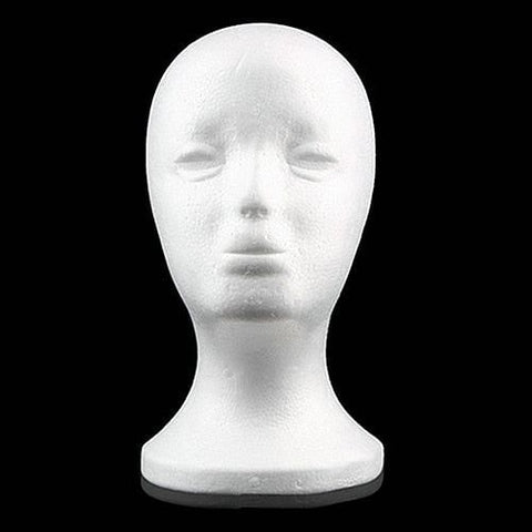 Practical Foam Female Mannequin Head,  For Wigs, Glasses,  Caps, Display Holder Stand, Model wig head with Stand, Wig Holder, @ The Jazzi Spot Boutique!