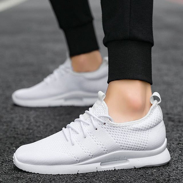 Men Sneakers 2020, Fashionable,  Breathable Mesh Slip-Ons.  Men Shoes, Summer Men Loafers, High Quality That Comes In Black, White, & Red Male Footwear Here @ The Jazzi Spot Boutique!