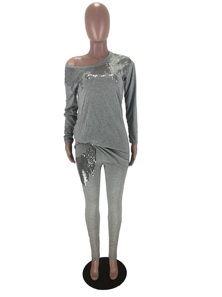 Sequined Two Piece Set,  Women Rave Clothing Style,  Sexy,  Club,  Party,  Night Outfit,  Long Top And Pant Sweat Suit,  Matching Set @ The Jazzi Spot Boutique!