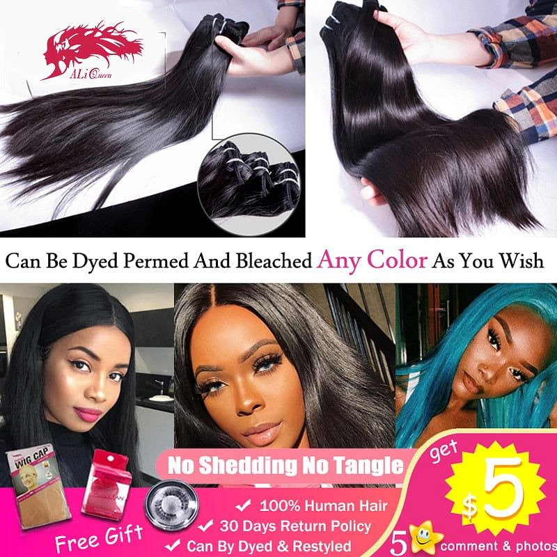 Straight Brazilian Unprocessed Virgin Hair,  Human Mink Hair, Weave Bundle Comes in 1/3/ or 4 Pc \Bundles,  One-Donor,  Sold here @ The Jazzi Spot Boutique!