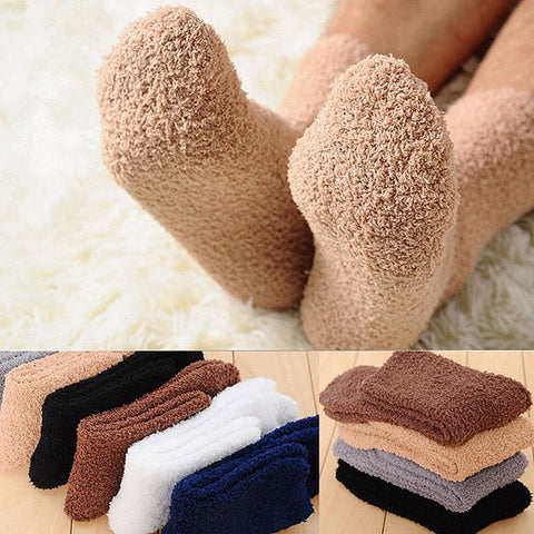 Winter Warm Fluffy Socks In Women's,  Cute, Soft Socks.  Elastic,  Coral Velvet Socks,  Indoor Floor, Towel Socks, Breathable Pure Colors, Here @ The Jazzi Spot Boutique!