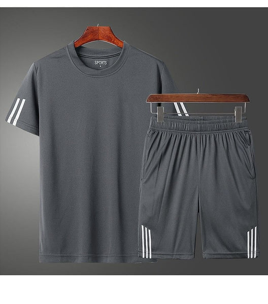 Fashion Brand Set for Men, Clothing 2020,  Summer New 2pc Tracksuit Short Sweatshirt + Shorts Sets,  Beach,  Mens Casual Shirts, Sportswears