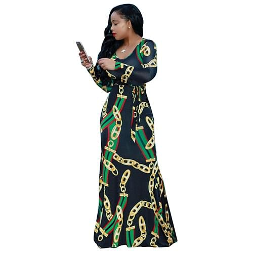 New Fashion long-sleeved dresses,  Popular Digital Print,  Elastic trend dress Size S M L XL XXL 3XL, Plus Sizes Right Here @ The Jazzi Spot Boutique!