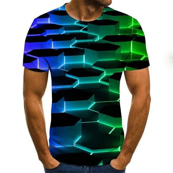 Three-dimensional vortex Men T-Shirt, 3D Printed Summer O-Neck Casual Wear,  Daily Casual Funny T- Shirt, Right Here @ The Jazzi Spot Boutique!