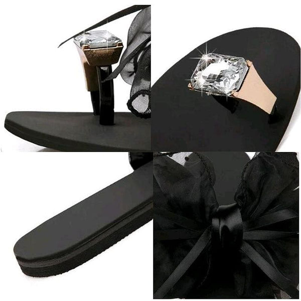 Summer Bowtie Slippers, Flats,  Sandals, Casual Fashion Sandals,  Beach Flip Flops,  Mesh Beach Slides, @ The Jazzi Spot Boutique!