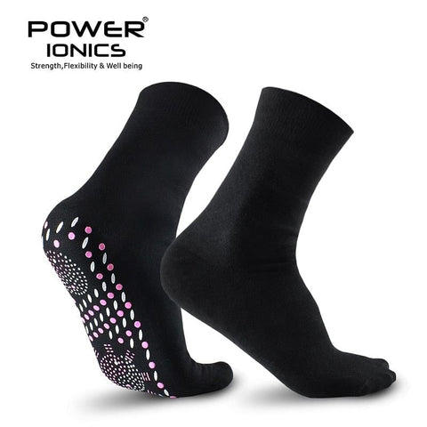 New Power Ionics Ion,  Infrared Rays, Health, Self-Heat Cotton Socks in  Black or White Helps To Improve Body blood circulation, @ The Jazzi Spot Boutique!