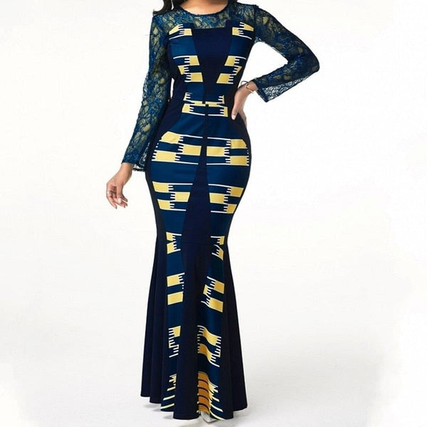 Dresses  For Women,  2020 Casual Plus Size,  Slim Patchwork,  Lace,  Maxi Dresses,  Elegant,  Sexy,  Long Dress up to A 5XL @ The Jazzi Spot Boutique!