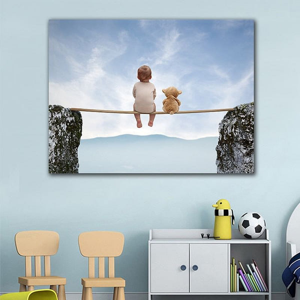 Cute Baby Wall Art Painting,  Landscape Wall HD Picture,  Poster,  Canvas,  Painting for Kids Room,  Decor Art, Here @ The Jazzi Spot Boutique!