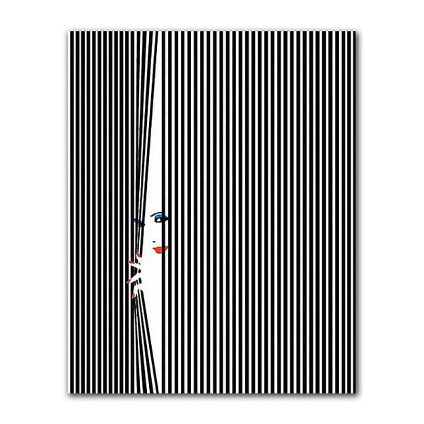 Nordic Lover, Kiss Wall Prints,  Painting Black and White Figure,  Canvas Picture for Living Room Or Any Home Decoration, @ The Jazzi Spot Boutique!
