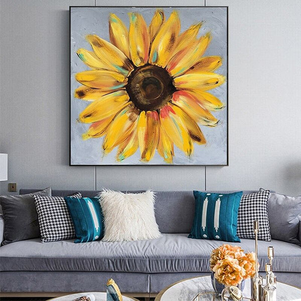 GoldLife Abstract Yellow SunFlower,  Canvas Oil Painting For The Living Room, Or Wherever You Like!  Wall Posters,  Wall Art,  Canvas Prints,  Home Decor @ The Jazzi Spot Boutique!