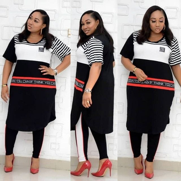 New  For Women, Two Piece Sets,  Long Tops Skinny Pants Matching Set, Mesh Patchwork, Sets are Plus Sizes up to  3XL & 4XL