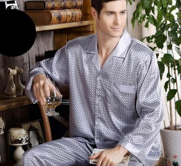 Men Silk Pajama Set