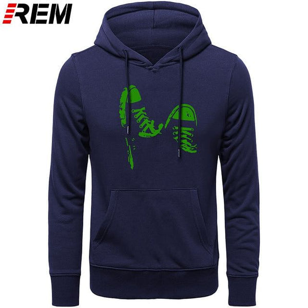 Summer Casual Gym Shoes, Funny Printed Men Cotton LONG Sleeve,  Cool Men's Clothing Brand Plus Hoodies, Sweatshirts.  @ We On 1's, The Jazzi Spot!