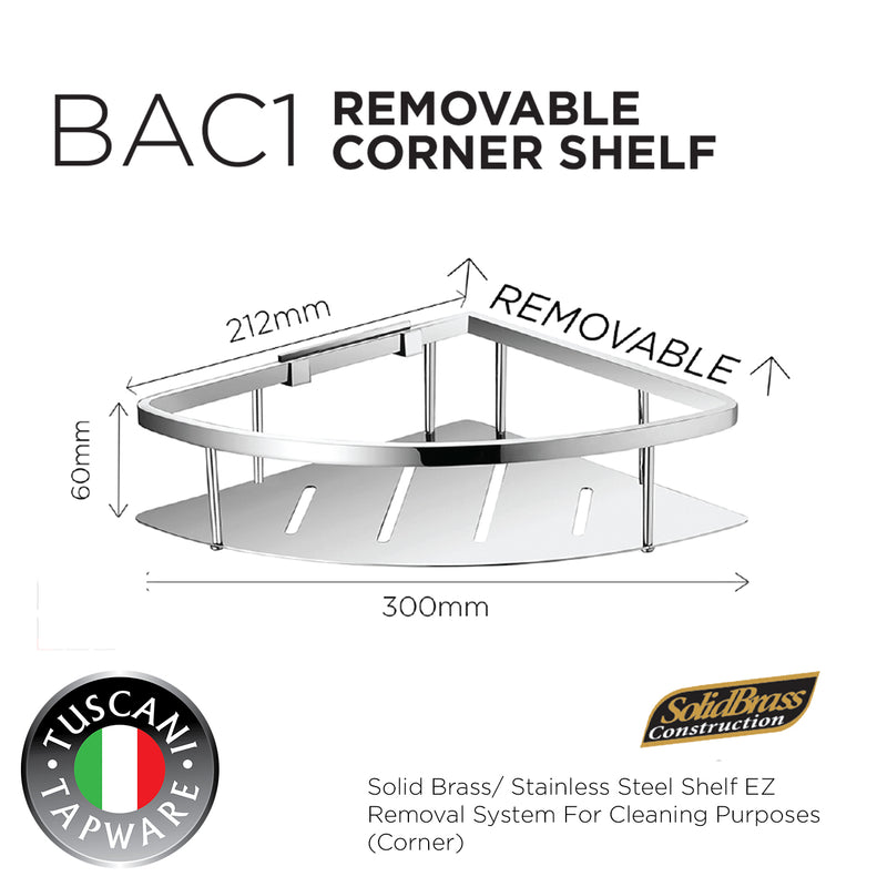 BAC1 - Removable Corner Shelf - Bathroom Accessories