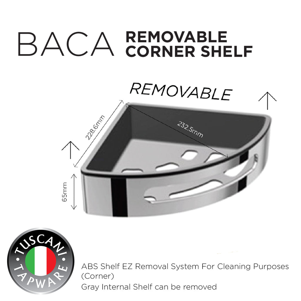 BACA - Removable Corner Shelf - Bathroom Accessories