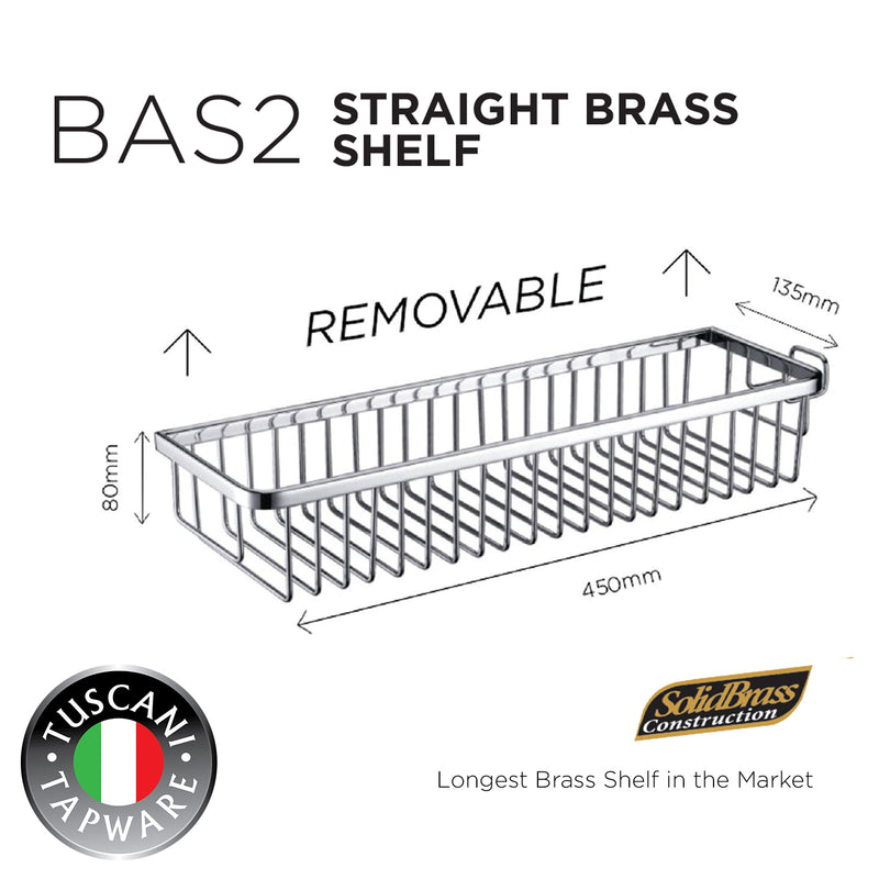 BAS2 - Removable Staight Shelf Series - Bathroom Accessories