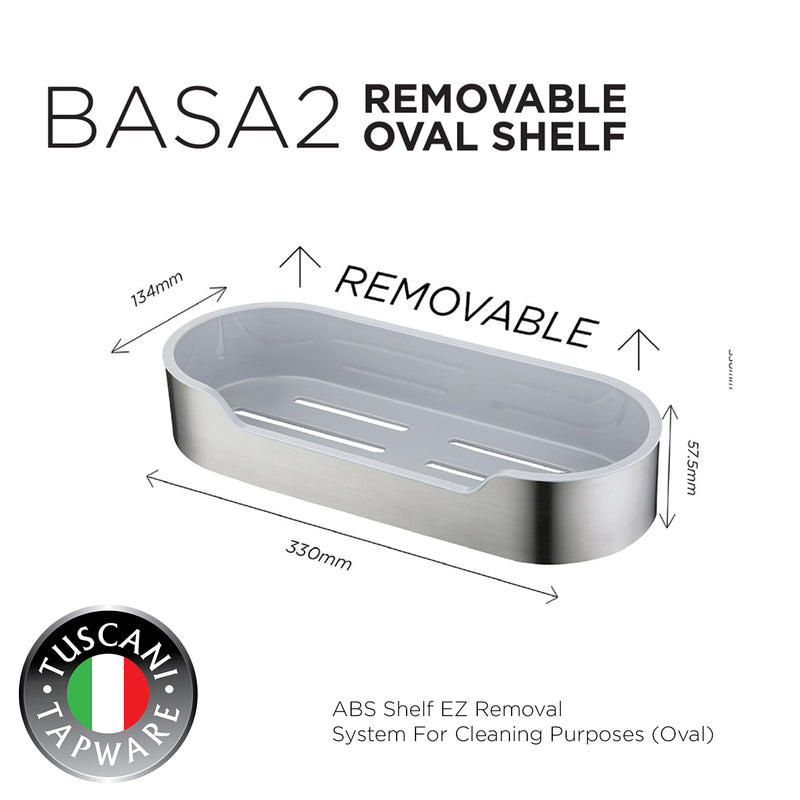 BASA2 - Removable Oval Shelf Series - Bathroom Accessories
