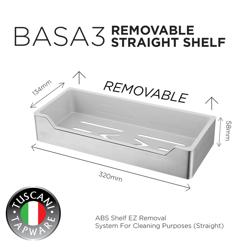 BASA3 - Removable Straight Shelf Series - Bathroom Accessories
