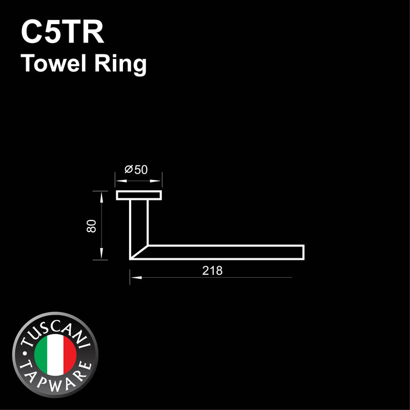 C5TR - COLOSEO Series Towel Ring - Bathroom Accessories