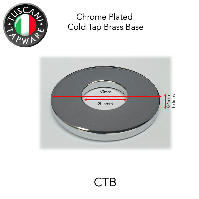 CTB - Chrome Plated Cold Tap Brass Base