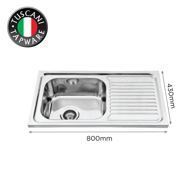 L800BS - Wall Mounted Kitchen Sink