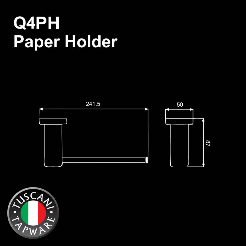 Q4PH - QUATRIO Series Paper Holder - Bathroom Accessories