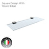 Q7GS - QUATRIO Series Glass Shelf - Bathroom Accessories