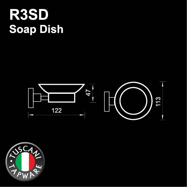 R3SD - RONDANA Series Soap Dish - Bathroom Accessories