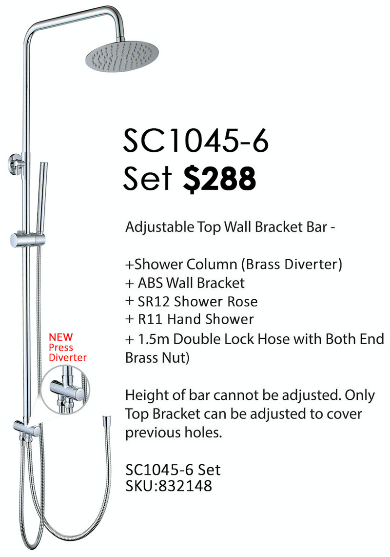 SC1045-6 - Rain Shower Set