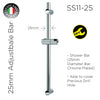 SS11-25 + 1.5GBB Hose - Shower Bar