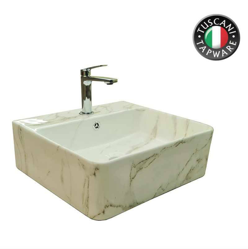 TBP1020-449W Marble Design Deck & Wall Mounted Basin