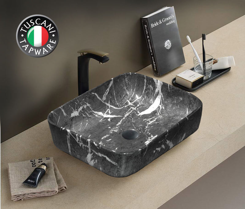 TBPC1020B Marble Design Deck Mounted Basin