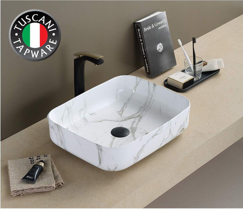TBPC1020W Marble Design Deck Mounted Basin