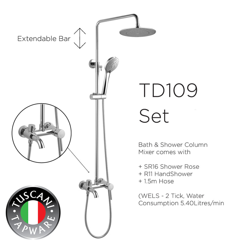 TD109 - DI LIVIO Series Rain Shower Set