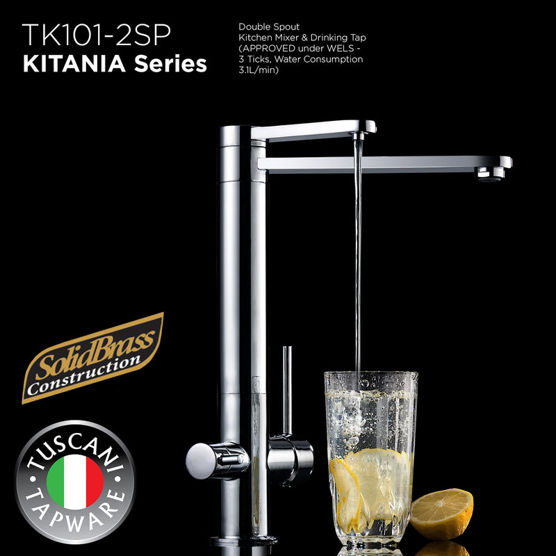 TK101-2SP - KITANIA Series Kitchen Mixer & Drinking Tap - Mixer