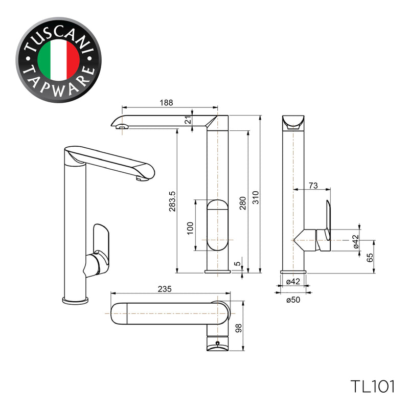 TL101 - LAVANZI Series Kitchen Mixer - Mixer