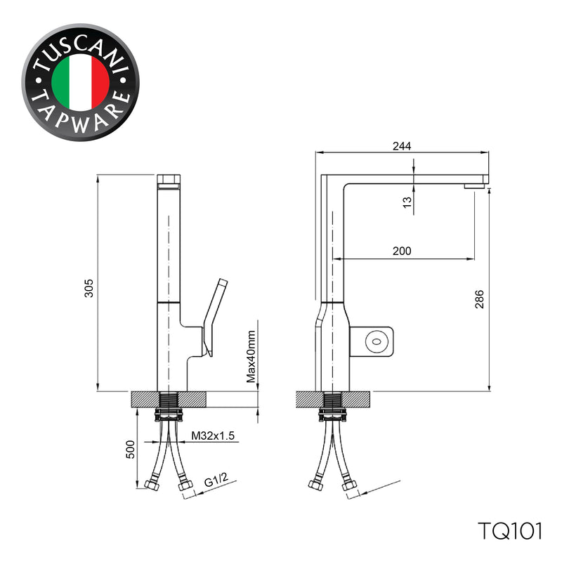 TQ101 - QUATRIO Series Kitchen Mixer - Mixer