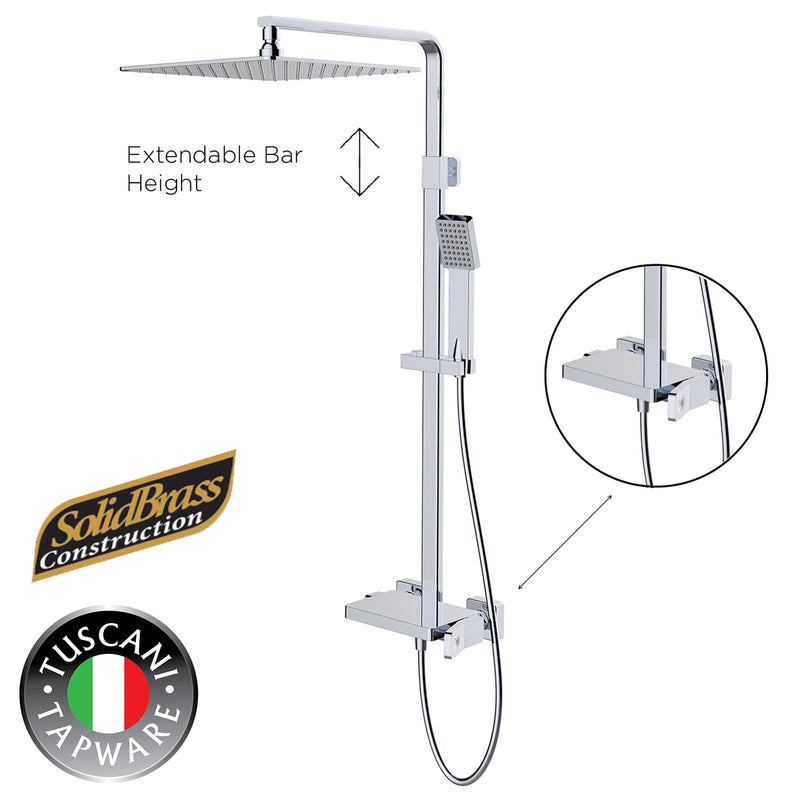 TQ109 - QUATRIO Series Rain Shower Set - Mixer