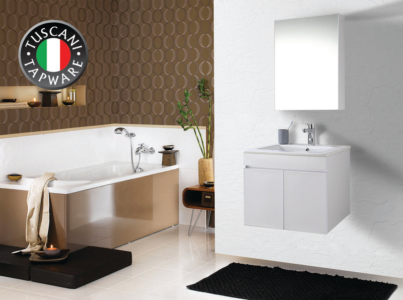 MC60GW Mirror Cabinet (Glossy White)