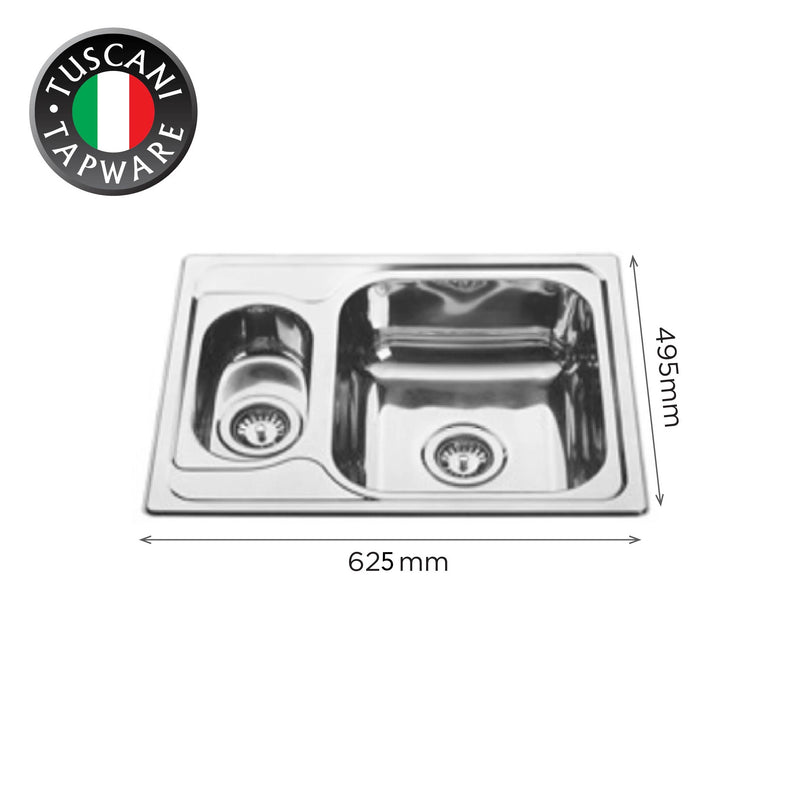 TI625 - Top & Under-Mount Use Kitchen Sink