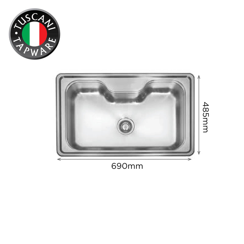 TI690 - Top & Under-Mount Use Kitchen Sink