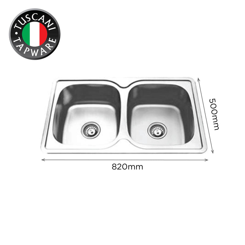 TI820 - Top & Under-Mount Use Kitchen Sink