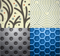 February Seamless Patterns