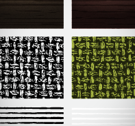February Seamless Textures