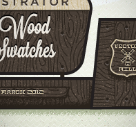 Vintage Wood Seamless Pattern Swatches