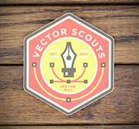 Vector Scouts Sticker