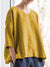Women Casual Tops V Neck Asymmetrical Long Sleeve Cotton Shirt