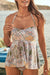 Retro Ruched-Overlay Tankini Set