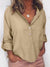 Women's Solid Color Long Sleeve Lapel Blouse