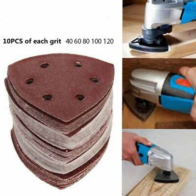 90x90x90mm Triangle Sanding Disc 6 Hole 10Pcs